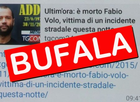 "LA BUFALA: ""FABIO VOLO MORTO IN UN INCIDENTE"""