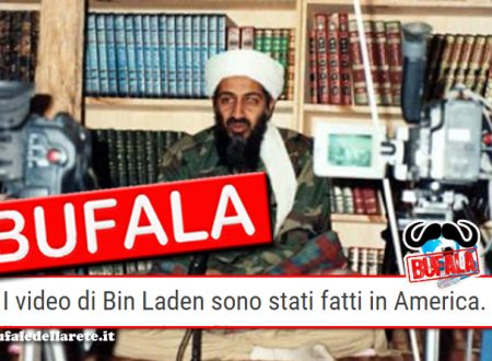 Bufala I video di Bin Laden sono stati fatti in America. La prova shock