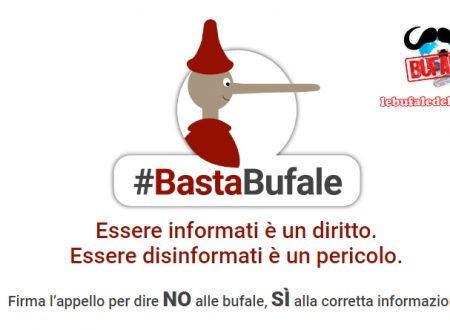 BASTA BUFALE – L'appello on line di Laura Boldrini