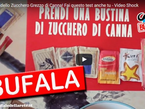 BUFALA La Truffa dello Zucchero di Canna – VIDEO SHOCK!