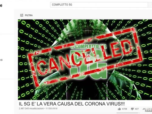 YOUTUBE ELIMINA I VIDEO COMPLOTTISTI CHE LEGANO 5G AL CORONAVIRUS